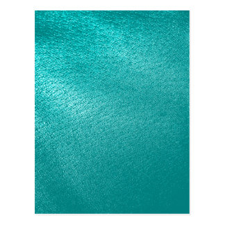 Turquoise Leather Look Postcard