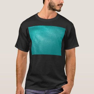 Turquoise Leather Look T-Shirt