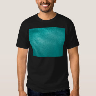 Turquoise Leather Look Tee Shirt