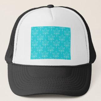 Turquoise Leaves Trucker Hat