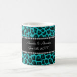 Turquoise leopard pattern wedding favours