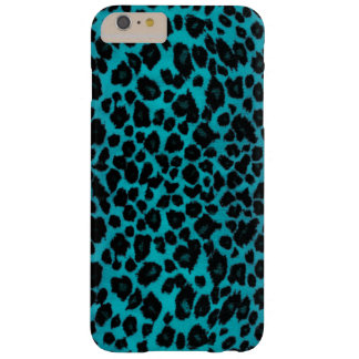 Turquoise Leopard Print Barely There iPhone 6 Plus Case