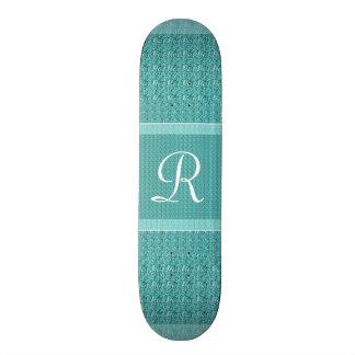Turquoise (Letter R) Monogram Skate Decks