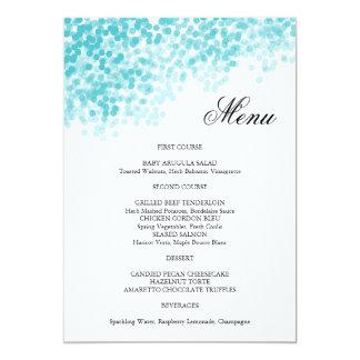 Turquoise Light Shower Menu Card 13 Cm X 18 Cm Invitation Card