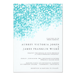 Turquoise Light Shower | Wedding Invitations