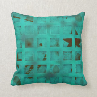 Turquoise lights in my bedroom cushion