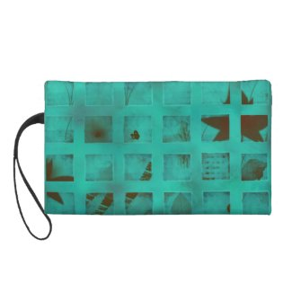 Turquoise lights in my bedroom wristlet clutch