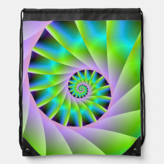Turquoise Lilac and Green Spiral Bag