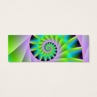 Turquoise Lilac and Green Spiral Card