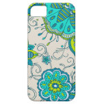 Turquoise & Lime Floral iPhone 5 Cover