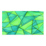 Turquoise & Lime Triangles Business Card
