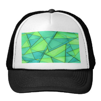 Turquoise & Lime Triangles Cap