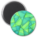 Turquoise & Lime Triangles Magnet
