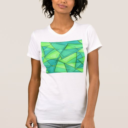 Turquoise & Lime Triangles Shirt