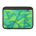 Turquoise & Lime Triangles Sleeve For MacBook Air
