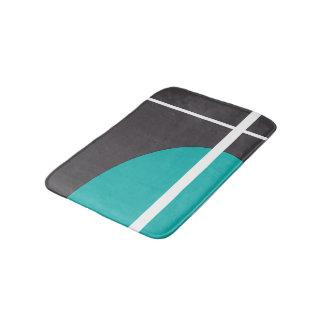 Turquoise Line Bath Mat