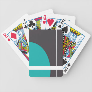 Turquoise Line Bicycle Playing Cards