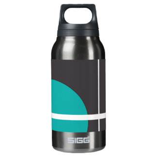 Turquoise Line Insulated Water Bottle