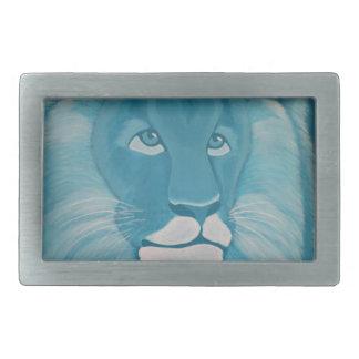 Turquoise Lion Belt Buckle