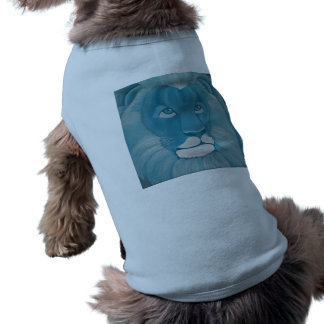 Turquoise Lion Dog Shirt