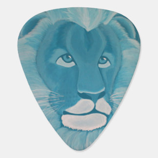 Turquoise Lion Guitar Pick (Dual Sided Image)