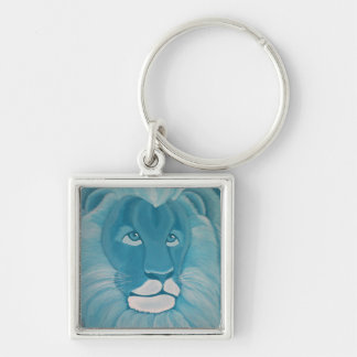 Turquoise Lion Keychain