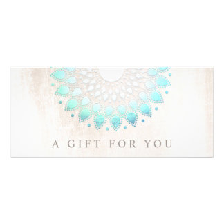 Turquoise Lotus Floral Spa Gift Certificate