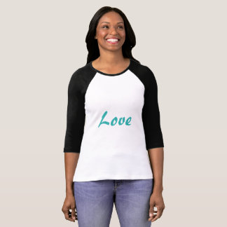Turquoise Love Baseball Shirt - Women's- US Made