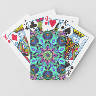 Turquoise Mandala Abstract Poker Deck