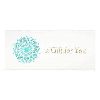 Turquoise Mandala Beauty Spa Gift Certificate