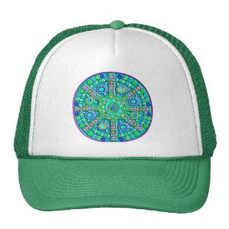 Turquoise Mandala Mesh Hats