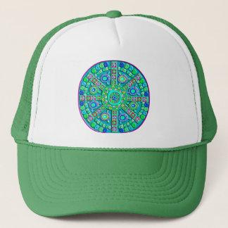 Turquoise Mandala Trucker Hat