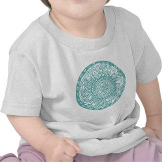 Turquoise Mandala Tee Shirts