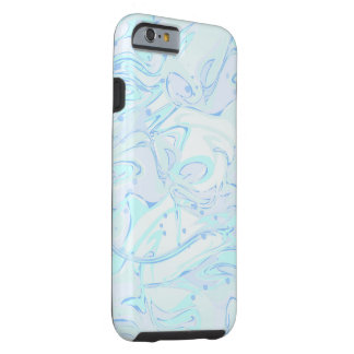 Turquoise marble texture for trendy girls tough iPhone 6 case