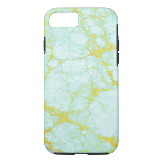 Turquoise Marble with Gold Veins iPhone 8/7 Case