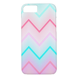 Turquoise, Mint and Coral Chevron pattern iPhone 8/7 Case