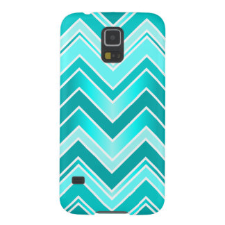 Turquoise, Mint and White Chevron pattern Galaxy S5 Cases