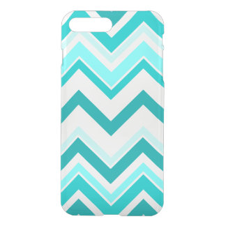 Turquoise, Mint and White Chevron pattern iPhone 8 Plus/7 Plus Case