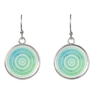 Turquoise Mint Green Boho Tribal Folk Gypsy Hippy Earrings