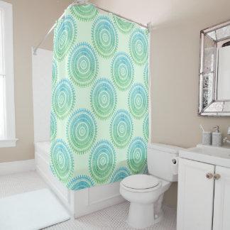 Turquoise Mint Green Boho Tribal Folk Gypsy Hippy Shower Curtain