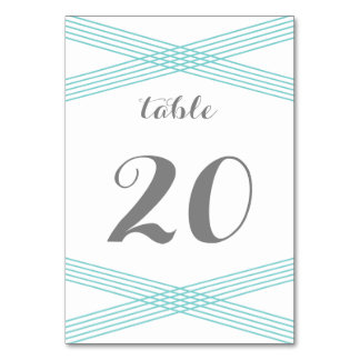Turquoise Modern Deco Table Card