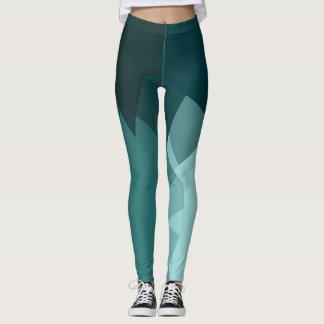 Turquoise Modern Geometric Pattern Leggings