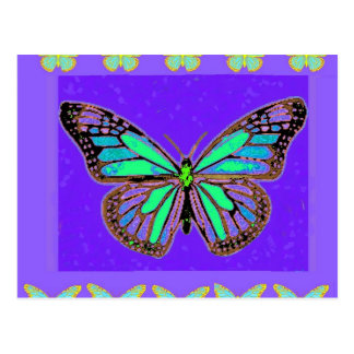 Turquoise Monarch Purple Gifts by Sharles Postcard