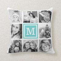 Monogram Photo Collage Cushion