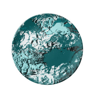Turquoise Moon Decorative Plate