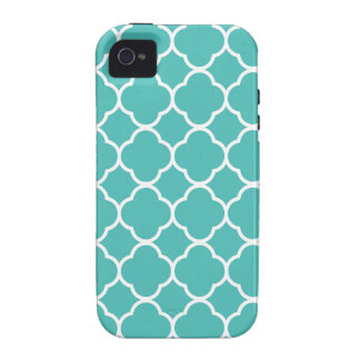 Turquoise Moroccan Pattern Vibe iPhone 4 Cases
