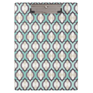 Turquoise Moroccan Pattern Clipboard