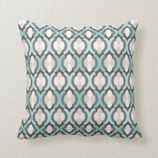 Turquoise Moroccan Pattern Cushion