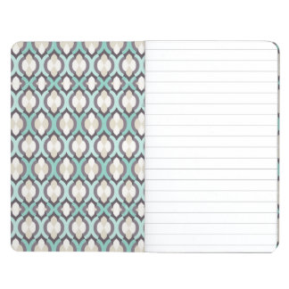 Turquoise Moroccan Pattern Journal