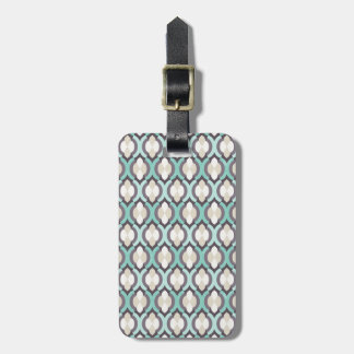 Turquoise Moroccan Pattern Luggage Tag